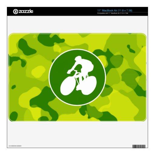 Camo verde; Ciclo Calcomanías Para MacBook