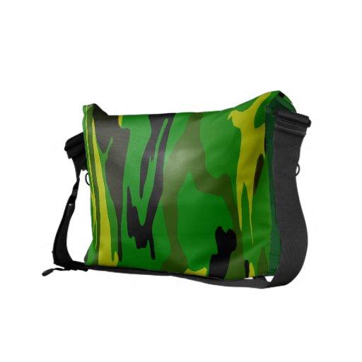 Camo verde claro bolsa de mensajeria