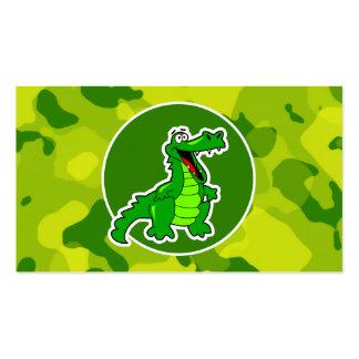 Camo verde; Cocodrilo, cocodrilo Tarjetas De Visita