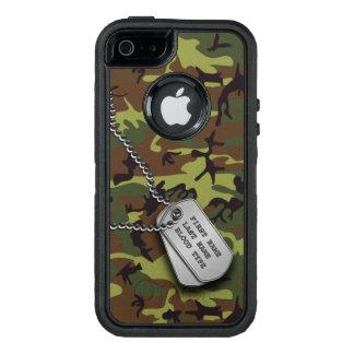 Camo verde con la placa de identificación funda otterbox para iPhone 5/5s/SE
