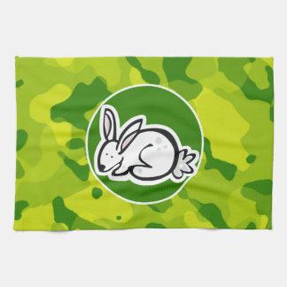 Camo verde; Conejo de conejito Toalla