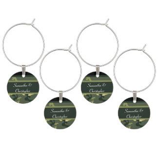Camo verde del ejército personalizado identificadores de copas