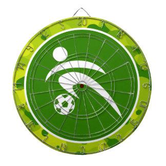 Camo verde Fútbol Tablero De Dardos