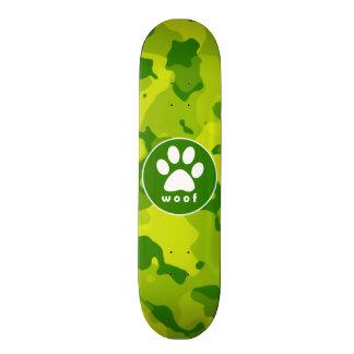 Camo verde; Impresión de la pata Patineta Personalizada