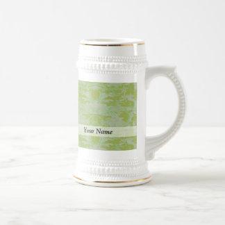 Camo verde jarra de cerveza