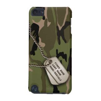 Camo verde militar con la placa de identificación funda para iPod touch 5G