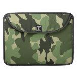 Camo verde militar mangas de Macbook de 15 pulgada