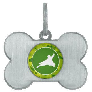 Camo verde; Ninja Placas De Mascota