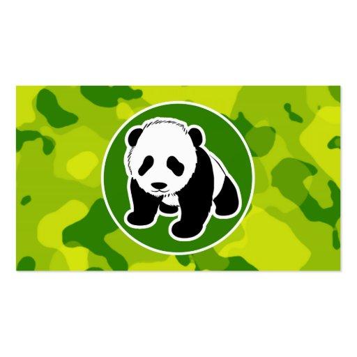 Camo verde; Panda Tarjetas De Negocios