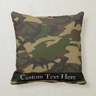Camo verde polvoriento almohadas