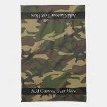 Camo verde polvoriento toalla