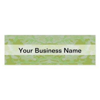 Camo verde tarjetas de visita mini