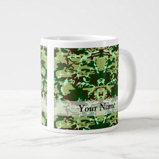 Camo verde taza extra grande
