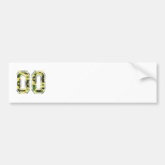Camo verde y amarillo de #00 pegatina para auto