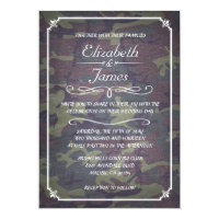 Camo Vintage Chalkboard Wedding Invitations Personalized Invite (<em>$2.01</em>)