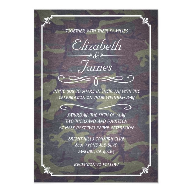 how to save photos on iphone camo vintage chalkboard wedding invitations zazzle 19059