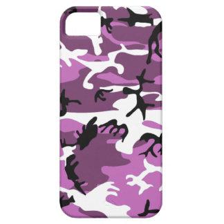 Camo violeta iPhone 5 carcasa