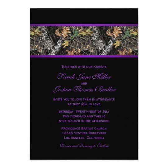 Camo Wedding Invitations To Make: Camo Wedding Invitations
