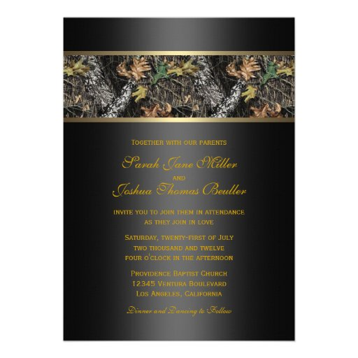 Camouflage Wedding Invitations was very inspiring ideas you may choose for invitation ideas