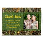 Camo Wedding Thank You Cards