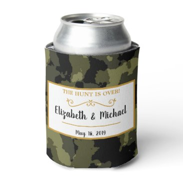 Camo Wedding - The Hunt is Over Can Cooler