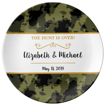 Camo Wedding - The Hunt is Over Dinner Plate