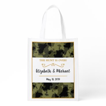 Camo Wedding - The Hunt is Over Grocery Bag
