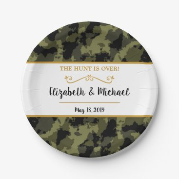 Camo Wedding - The Hunt is Over Paper Plate