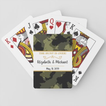 Camo Wedding - The Hunt is Over Playing Cards