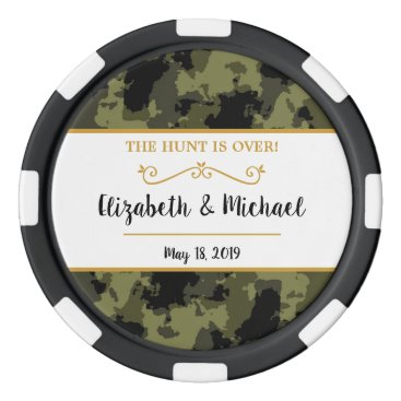 Camo Wedding - The Hunt is Over Poker Chip Set