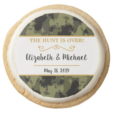 Camo Wedding - The Hunt is Over Round Shortbread Cookie