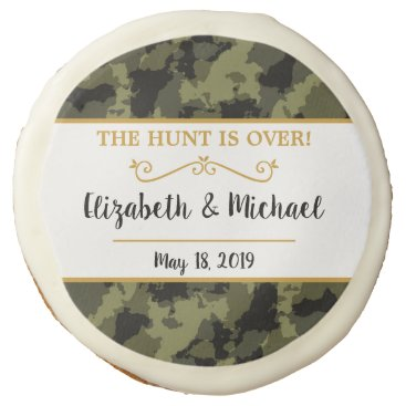 Camo Wedding - The Hunt is Over Sugar Cookie