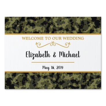 Camo Wedding - Welcome Lawn Sign