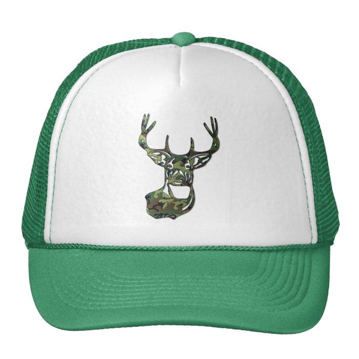 Camo - White Tail Buck Deer Trucker Hat