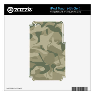 Camo Wilderness Military Masculine Design iPod Touch 4G Decal