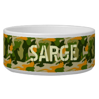 Camo with custom name bowl