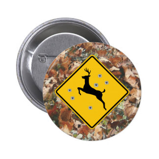 camo with deer crossing button