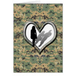 Camo Woman missing man Card Greeting Card