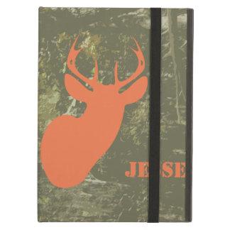 Camo y caja anaranjada del iPad de los ciervos con