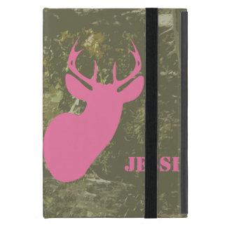 Camo y caso del iPad rosado de los ciervos mini co iPad Mini Cobertura