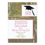 Camo y pica la invitación 2012 de la graduación