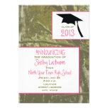Camo y pica la invitación 2013 de la graduación