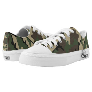 Camo, Zipz Low Top Shoes Printed Shoes