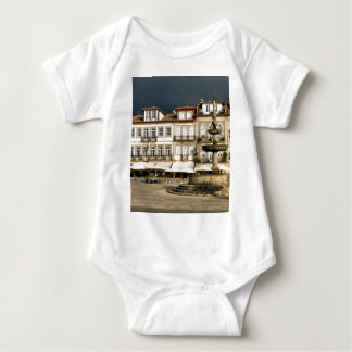 Camoes square in Ponte de Lima, Portugal Baby Bodysuit