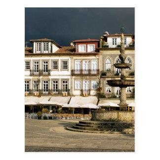 Camoes square in Ponte de Lima, Portugal Postcard