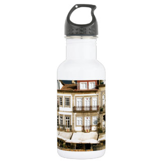 Camoes square in Ponte de Lima, Portugal Stainless Steel Water Bottle