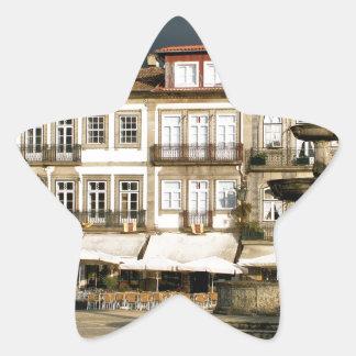 Camoes square in Ponte de Lima, Portugal Star Sticker