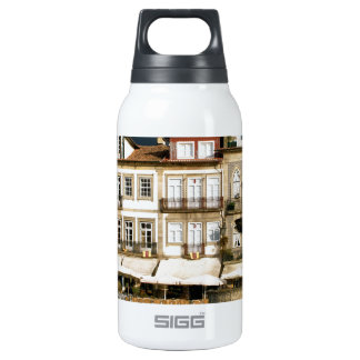 Camoes square in Ponte de Lima, Portugal Thermos Bottle