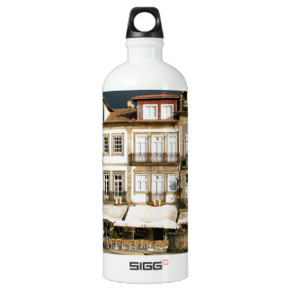 Camoes square in Ponte de Lima, Portugal Water Bottle