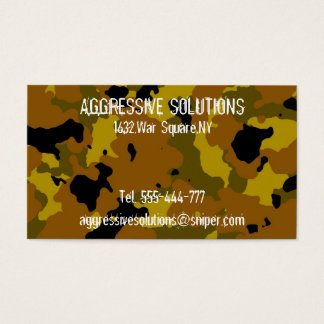 Camoflage Business Card Template